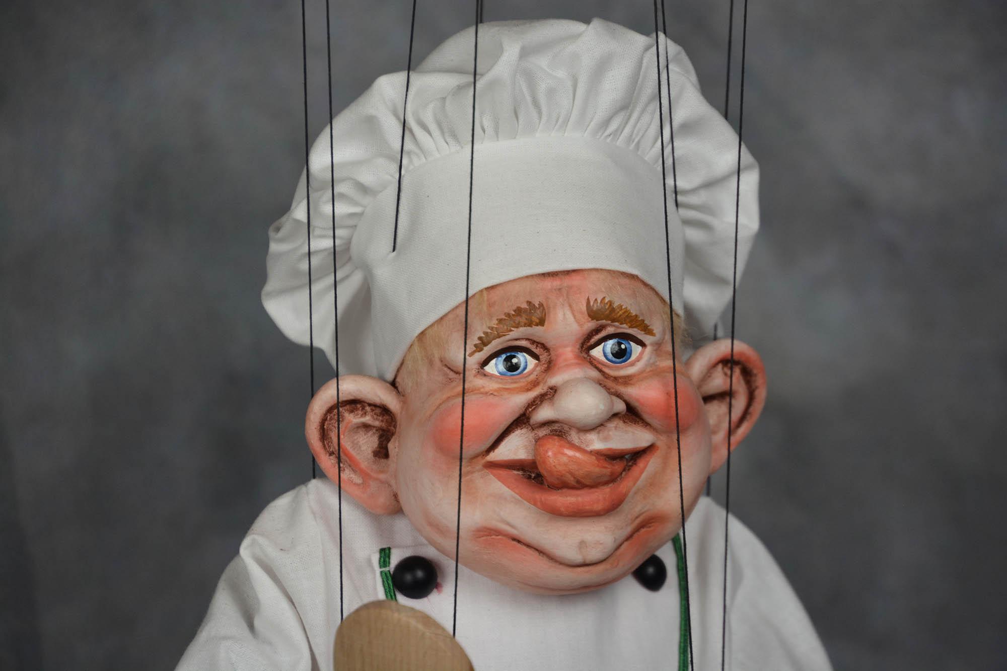 marionnette artisanale chef
