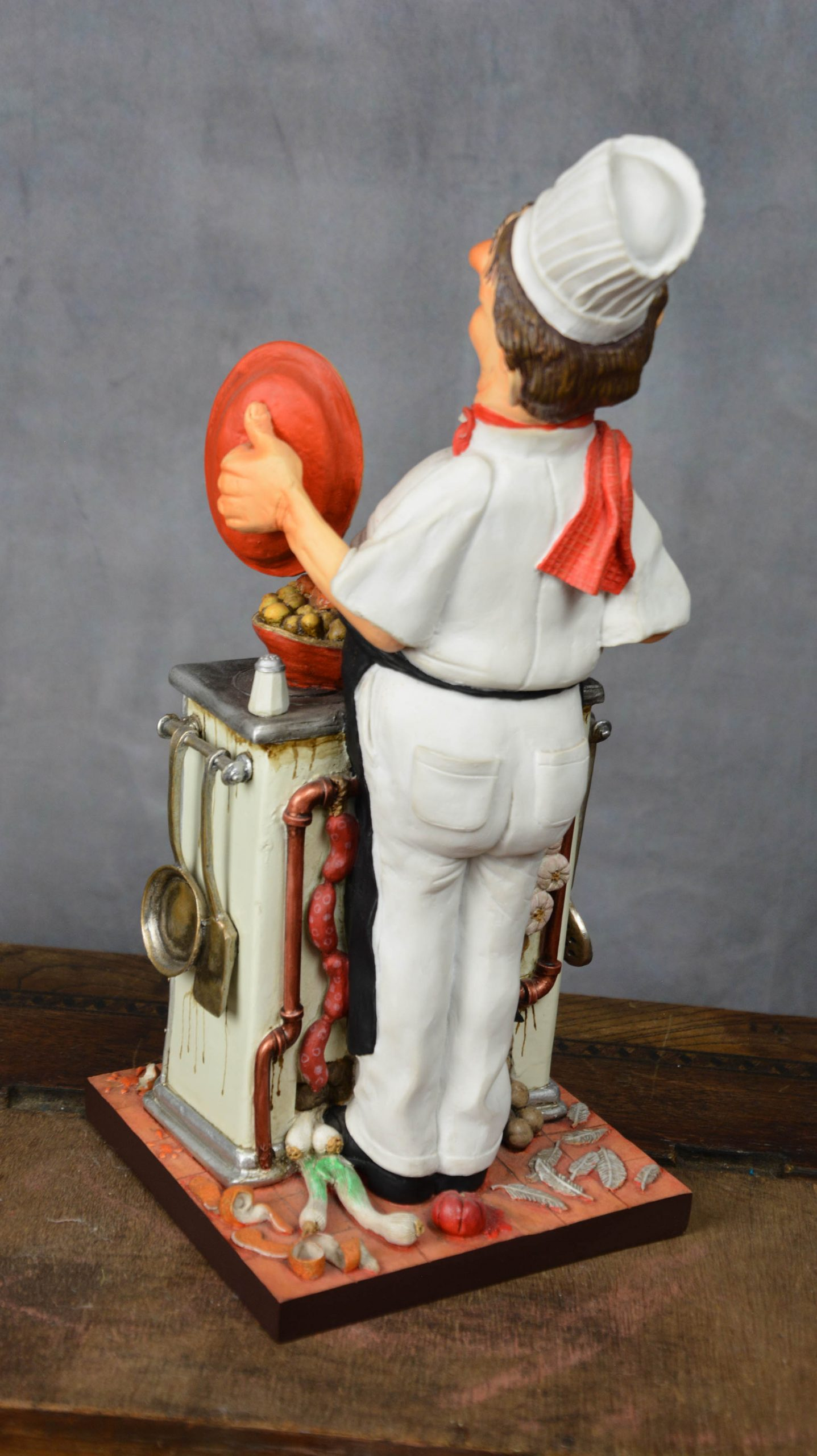 boutique figurine piece artisanale personnage cuisinier parodie
