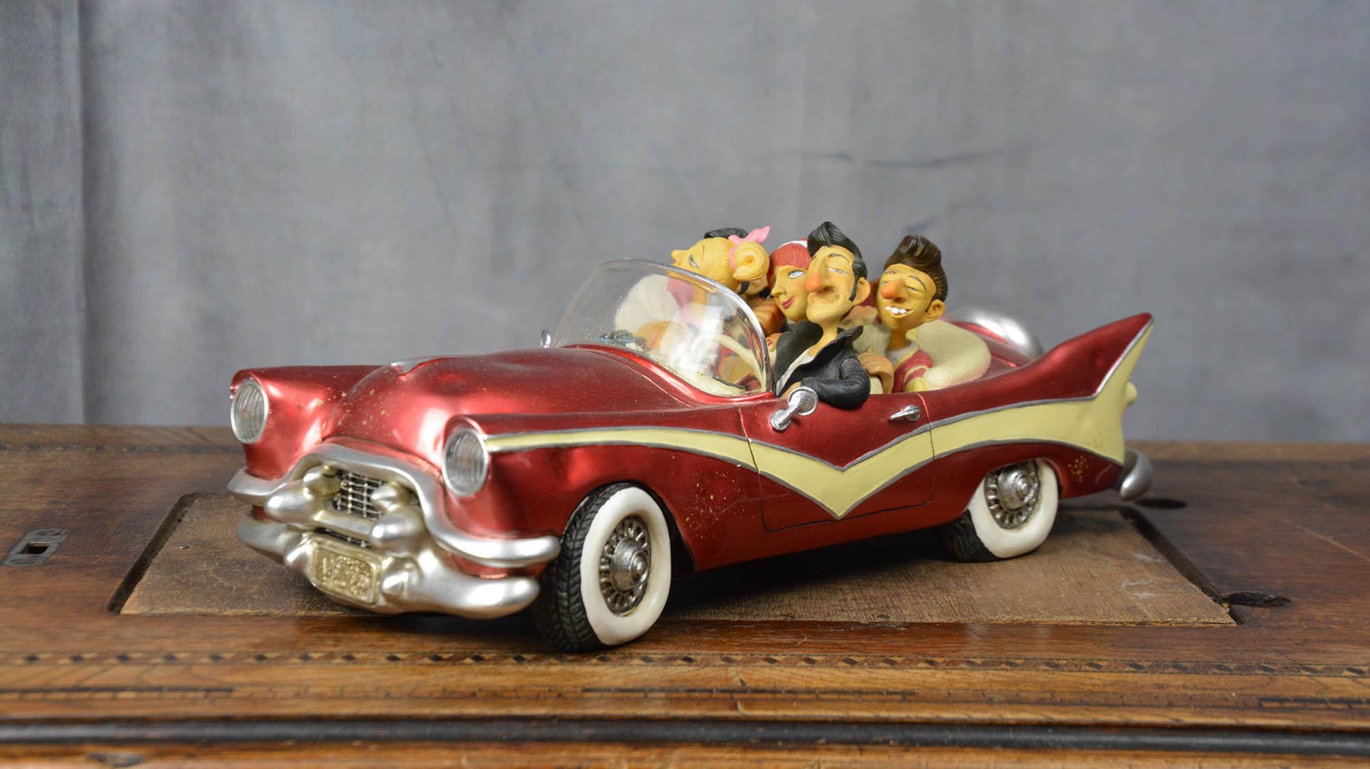 boutique figurine piece artisanale vehicule les 50 parodie