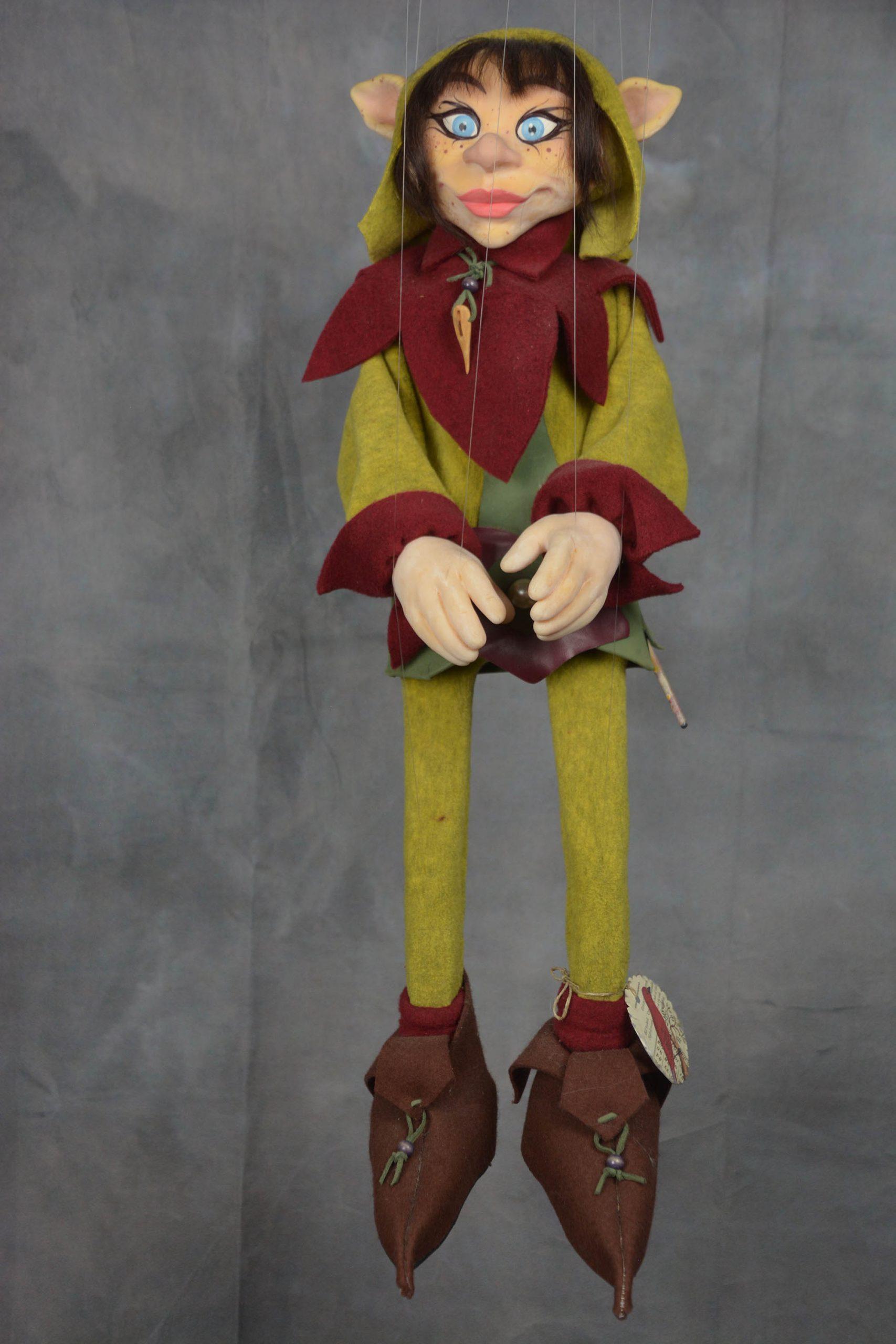 marionnette artisanale lutin