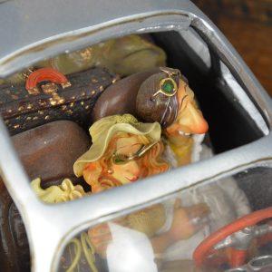 boutique figurine piece artisanale vehicule porsch parodie