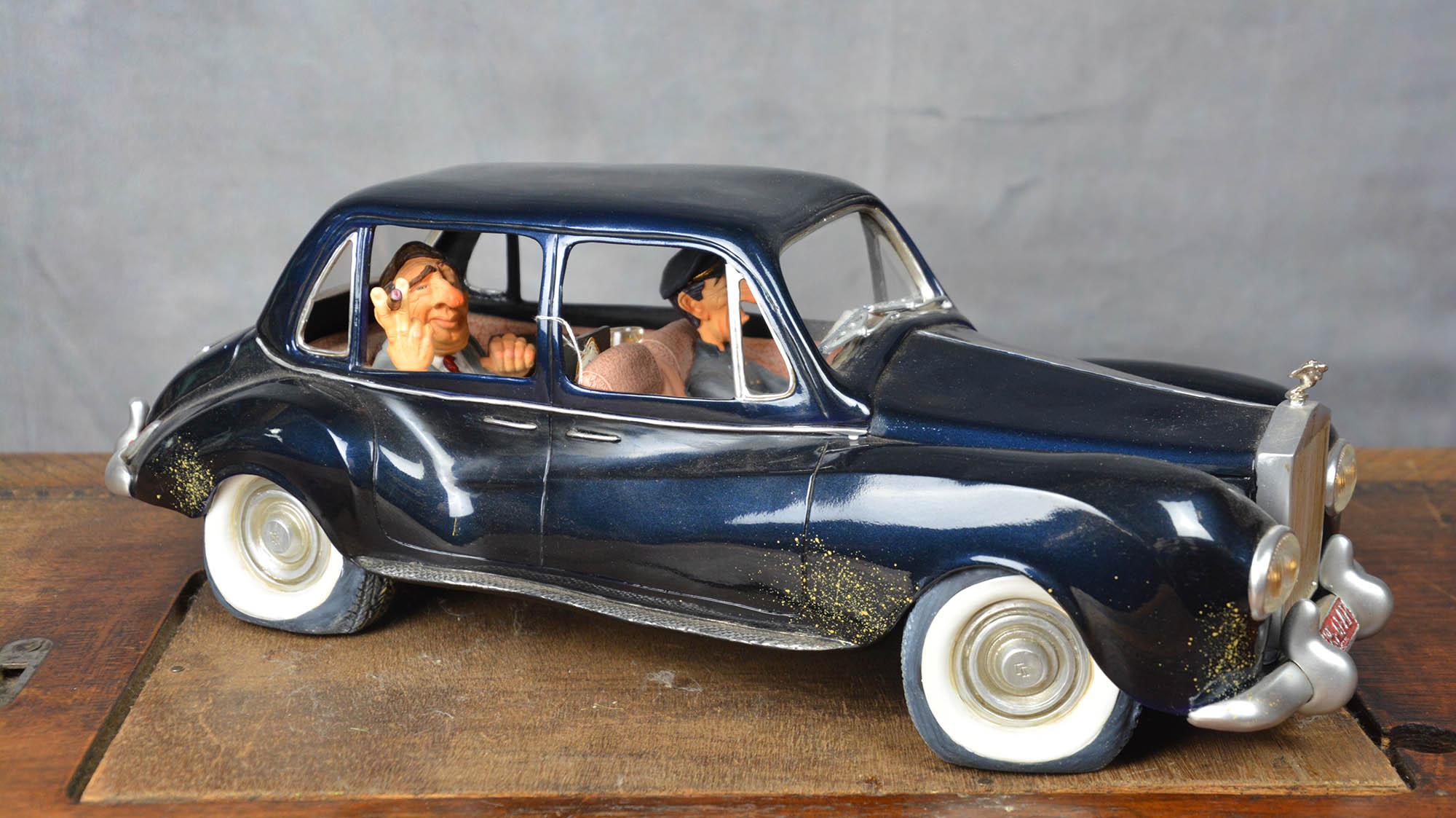 boutique figurine piece artisanale vehicule rolls parodie
