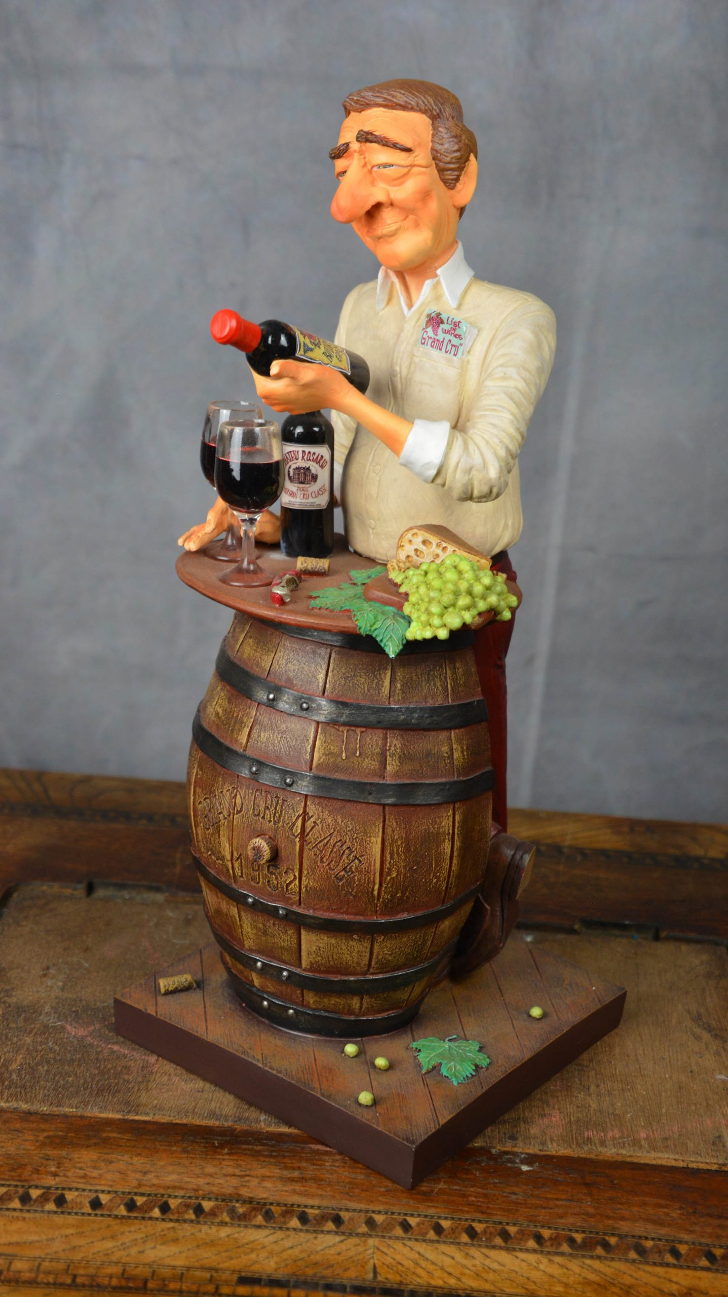 boutique figurine piece artisanale sommelier parodie